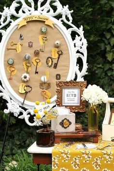 Keys to Success Theme - Graduation Party Inspiration from J. Schrecker Jewelry. Visit us at www.facebook.com/jschreckerjewelry
