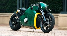Lotus is capable of manufacturing a lot of things, but the company… Triumph Motorcycles, Concept Motorcycles, Cool Motorcycles, Yamaha Bikes, Cx 500, Motorbike Design, West Coast Choppers, Futuristic Motorcycle, Cafe Racer Bikes