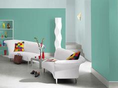 Sala com cores Coral