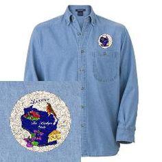 Wisconsin state Denim Shirt > Wisconsin symbols > DODGERFL PRODUCTIONS
