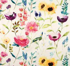 Flower Field Ecru (10808-101) – James Dunlop Textiles | Upholstery, Drapery & Wallpaper fabrics