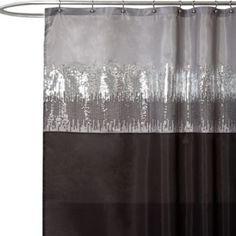Night Sky Black and Grey 72-Inch x 72-Inch Shower Curtain - BedBathandBeyond.com/$34.99