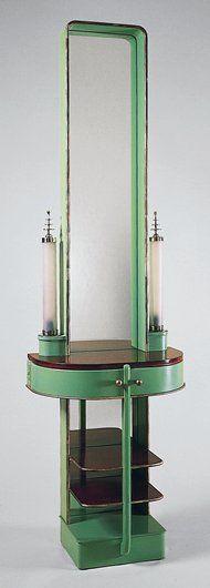 'Skyscraper' Night Table - 1928-29 - by Kem Weber. More: https://en.wikipedia.org/wiki/Kem_Weber