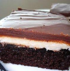 Ho Cake... moist chocolate cake with a super sweet and creamy vanilla ...