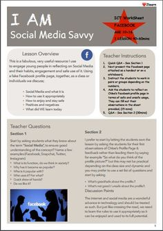This a great resource I use regularly to engage year olds (teens) in discussing and reflecting on their safe usage of Social Media. *This lesson plan. Teaching Methods, Teaching Resources, Feedback For Students, Computer Lessons, Old And Teen, Secondary Math, Computer Technology, Creative Teaching, Student Work