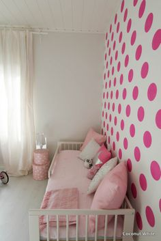 Coconut White: Girls pink room