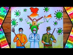 Hellow friends this is a pastel color painting of coronavirus step by step. Earth Day Drawing, Earth Drawings, Art Drawings For Kids, Colorful Drawings, My Drawings, Independence Day Drawing, Poster Rangoli, Jesus Drawings, Drawing Scenery
