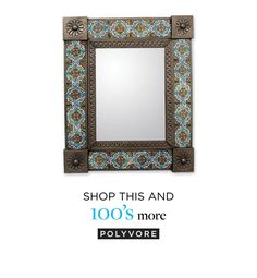 NOVICA Medium Mexican Handcrafted Floral Wall Mirror Ceramic Tiles (5.110 RUB) found on Polyvore featuring home, home decor, mirrors, blue, iron & aluminum mirrors, tin, wall decor, handmade home decor, floral home decor and novica home decor