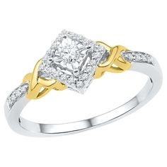 1/6 CT. T.W. Round Diamond Prong and Miracle Set