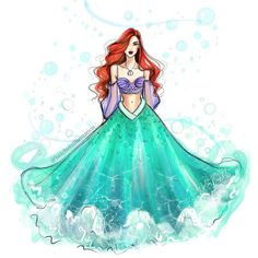 No shortage of color in Flatts Village 🏝🇧🇲 Disney Princess Fashion, Disney Princess Ariel, Princess Art, Disney Style, Ariel Mermaid, Ariel The Little Mermaid, Mermaid Art, Disney Artwork, Disney Fan Art