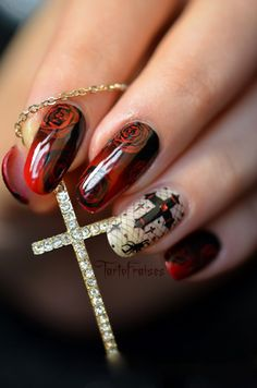 nail art halloween gothique