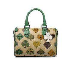 New Arrival Lovely Vintage Style Poker Print Women s Handle/Shoulder Bag 22192  ItemCode:1080102