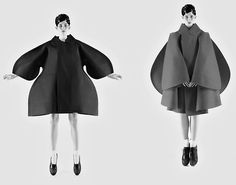 Monika Sawicka wearing Comme Des Garcons fall 2012 by Mark Segal for Vogue Nippon thinking of shape and form coming from barcalona 3d Fashion, Weird Fashion, All About Fashion, Fashion Details, High Fashion, Fashion Design, Origami Fashion, Rei Kawakubo, Yohji Yamamoto