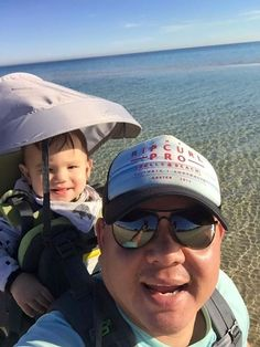 """""""Little Man and l walking on the beach in Melbourne!""""  - Life of Dad user Alvin Young - Bonbeach VIC Austrailia"""