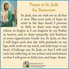 St Jude prayer for tomorrow