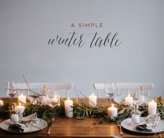 No need major ornaments, only with a little imagination and desire to do something different, it is more than enough to make your table look beautiful.  A simple, natural table with a wild and delicate presentation made from eucalyptus branches and leaves several to get a path super nice table which together with candles and economic details (name tags a blackboard with the menu, glass jars with salt ... etc.), result in this composition ready to succeed.