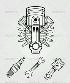 car cars barram_auto auto amazing accessories engineering engines parts summer sum Wrench Tattoo, Engine Tattoo, Car Tattoos, Mechanic Tattoo, Gravure Laser, Car Drawings, Retro Fashion, Tatting, Tattoo Designs