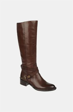 Really pretty! love the metal around the heel, the dark brown color and at an affordable price!    Franco Sarto Riding Boot available at #Nordstrom