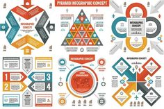 6 Infographic Business Concepts by serkorkin on @creativemarket