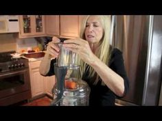 Mimi is having fun in her kitchen and shows you how to shred carrots, slice cucumbers and sweet potatoes, juice citrus and vegetables all with one appliance,. Mimi Kirk, Shredded Carrot, Raw Vegan, Robot, Watch, Kitchen, Youtube, Model, Life