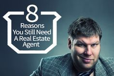 8 Reasons You Still Need A Real Estate Agent -- by @XavierDeBuck -- Are real estate agents really a necessary evil? Hasn't the internet and technology in general been able to bypass the need for an agent when selling one's property? Curious to hear your thoughts!!