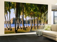 Palm Trees on the Beach, Carrillo Beach, Nicoya Peninsula, Guanacaste Province, Costa Rica Wall Mural – Large at AllPosters.com