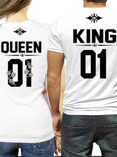 674e3a7f0cd8b5 ROYALTY KING and QUEEN couples t-shirts ☆ CUSTOM NUMBER ☆ in 2019 ...