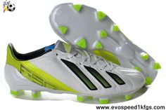 outlet store d8eb1 860d0 Buy New adidas F50 adizero miCoach FG White Green Football Shoes Store  Cheap Soccer Cleats,