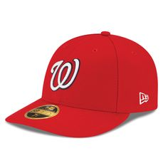 cd2113731de55 Men s Washington Nationals New Era Red Game Authentic Collection On-Field  Low Profile 59FIFTY Fitted Hat