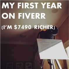 Make money on Fiverr.  After hearing the incredible story of AnarchoFighter last year, I knew I had to give the platform a shot!  While I haven't exactly earned house-buying money, it has turned into a nice little revenue source. I'm up $7490 through 14 months, or a little over $500 a month on average.