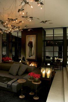 Modern goth interior design. Drama - desire to inspire - desiretoinspire.net