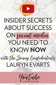 Insider secrets about success on social media you need to know NOW with The Skinny Confidential's Lauryn Evarts. Insider secrets about success on social media you need to know NOW with The Skinny Confidential's Lauryn Evarts. Social Media Tips, Social Media Marketing, Content Marketing, Marketing Strategies, Business Tips, Online Business, The Skinny Confidential, Finance, Social Media Influencer