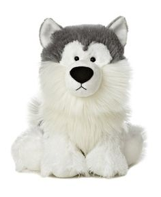 """Title: 10"""" Nanuk Item Number: 02431 Weight: 0.40 lb 10"""" NANUK is an adorable Malamute who is shaggy, waggy and just plain cute. This puppy dog is a wonderful hipile plush who is fully and soft to the"""