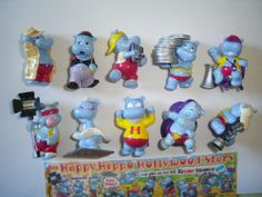 Kinder Surprise Set Happy Hippos Hollywood Stars 1997 Figures Collectibles | eBay