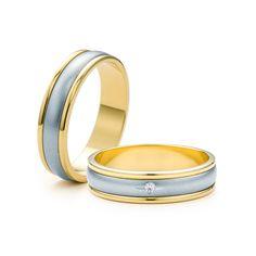 SAVICKI - Obrączki ślubne: Obrączki z dwukolorowego złota (Nr 29) - Biżuteria od 1976 r.