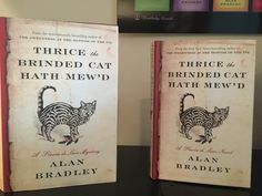 We just got our Canadian (left) and  US (right) copies of Alan Bradley's upcoming book - on sale September 20th!