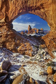 Turret Arch through North Window Arches National Park, Utah