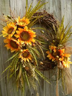 Fall Wreath  Wreath for the door  Large Wreath by forevermore1, $85.00