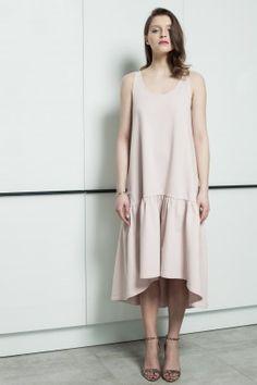 powder pink ruffle dress