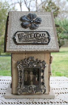 Altered Bird House by Kathy McElroy, via Flickr