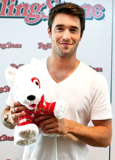 Revenge's resident hunk, Josh Bowman, posed with the Target Holiday Bullseye ® Plush Dog, whose sale proceeds benefit St. Jude Children's Research Hospital ®. I Smile, Make Me Smile, Divas, Thing 1, Raining Men, To Infinity And Beyond, Thats The Way, Faith In Humanity, Look At You