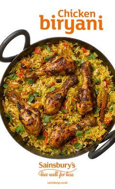 Indian Food Recipes, Asian Recipes, Healthy Recipes, Sainsburys Recipes, Comida India, Middle Eastern Recipes, Middle Eastern Food, Curry Dishes, Biryani Recipe