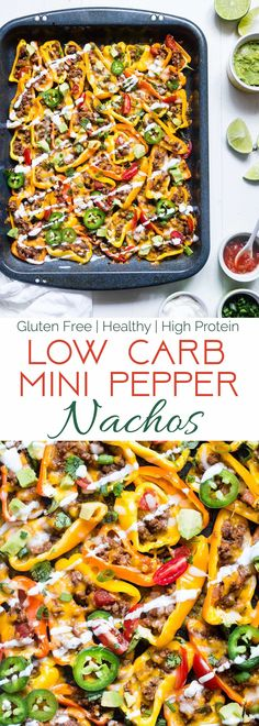 Mexican Mini Bell Pepper Nachos - These pepper nachos are LOADED with Mexican flavor! They're an easy, low carb and gluten free way to get your nacho fix for under 200 calories and 4 SmartPoints! | Foodfaithfitness.com | @FoodFaithFit