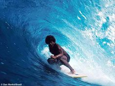 """Surfey Curley surfing """"the Curley"""""""