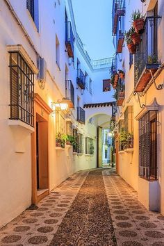 Street in Cordoba, Spain by fennirose Places Around The World, Oh The Places You'll Go, Travel Around The World, Places To Travel, Around The Worlds, Wonderful Places, Beautiful Places, Beautiful Streets, Amazing Places