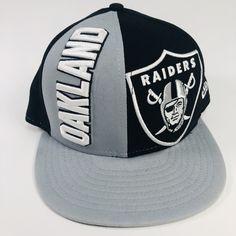 6e8a896e5922d2 Oakland Raiders New Era 9Fifty NFL Medium-Large Flat Bill Snapback Hat