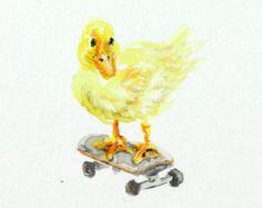 duck skateboarding art - Google Search
