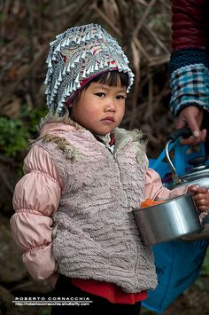 Hani girl, Yuanyang, Yunnan, China