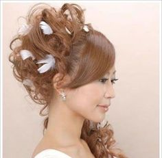 The Japanese bride hairstyle vying white angel | long hair styles | Asian hairstyle | Korean men Hairstyle