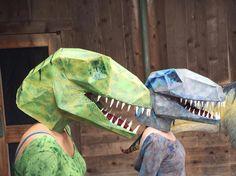 Patrones de máscara dinosaurio nuestro sistema por TetraVariations